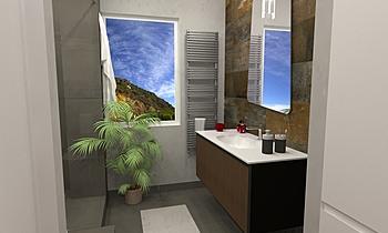 BAGNO PRINCIPALE Moderní Koupelna Steve Fulco