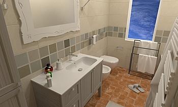 BAGNO 1 Středomořský Koupelna Steve Fulco