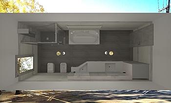 MODER BATH (G&L) 1 Modern Bathroom Gianni Mignone