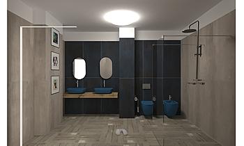Baie mare J. Mediterranean Bathroom Veronica Nicolae