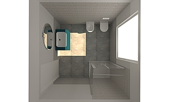 BAGNO MARVEL_vers.GRIGIO Contemporary Bathroom GUIDO SOFFRITTI
