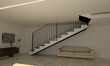 scala Modern Living room Aiello Ceramiche