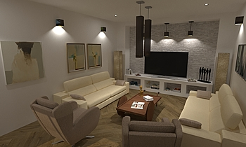 salon maria Modern Living room Francisco jose rodriguez