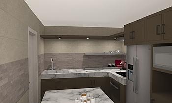 Kitchen02 - Tilelook Moderno Cozinha chaloemchai inkaew
