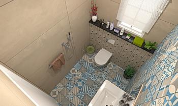 Men Bathroom Śródziemnomorskie Łazienka Zarrugh Company