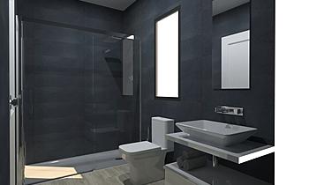 Juanvi Baño dormitorio Modern Bathroom BdB MATERIALES OÑATE Y RODRIGUEZ S.L.