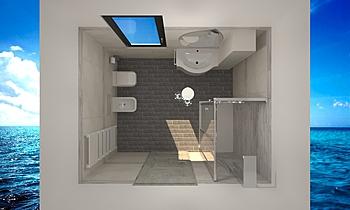 MODERN BATH INTERIOR WHIT... Modern Fürdőszoba Gianni Mignone