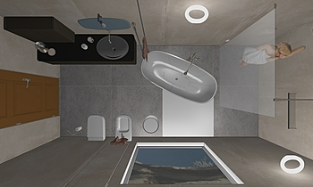 Bagno Padronale Modern Fürdőszoba Vincenzo Galati