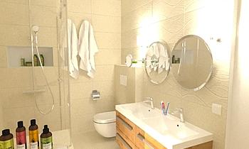 Keskeny fürdő Moderní Koupelna Katinka Veress
