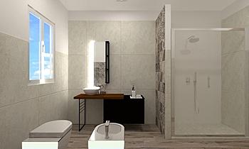 BAGNO - FABIO PICCHIO Modern Fürdőszoba JESSICA ORAZI