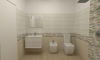 Progetto Baucer Sostanza ... Modern Fürdőszoba Ceramiche Piran