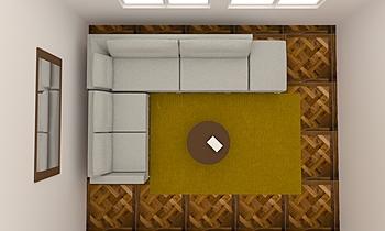 TAPIS JAUNE Současný Obývací pokoj Alain Rossetti