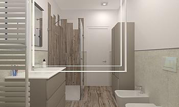 DOMIZI MAURO - BAGNO PIAN... Modern Fürdőszoba JESSICA ORAZI