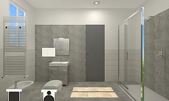 BAGNO GARAGE del 20-08-21... Modern Fürdőszoba JESSICA ORAZI