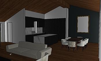 Open space Moderní Obývací pokoj Giada Unia