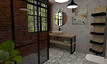 Bathroom - EI01 Industrial Łazienka Alberto Firmat Várez
