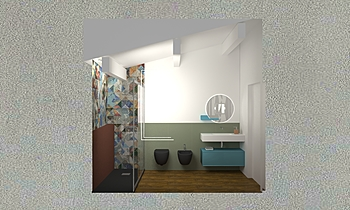 PROVA CAMERA colore Modern Fürdőszoba Jessica Branchesi