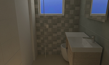 Bagno Camera Cofone-Bonan... Moderní Koupelna Adriano Meringolo