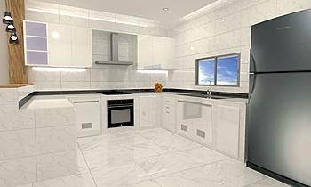 kitchen Moderno Cocina Tulakon Arrom