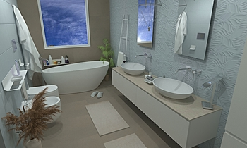 bagno principale Modern Fürdőszoba Steve Fulco