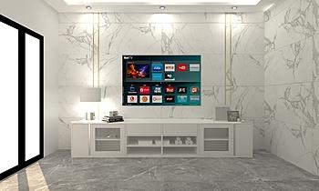 Wall show Modern Cameră de zi Tulakon Arrom