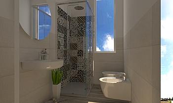 Nuvola e Cementina Modern Bathroom Nunzio Famà
