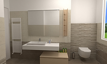 Armonie Work Sabbia/Bronz... Modern Bathroom Ceramiche Piran
