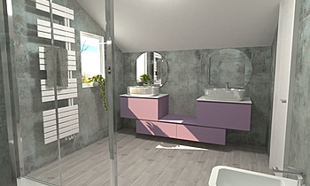 bergamini ragazze Modern Bathroom Toscano Toscano