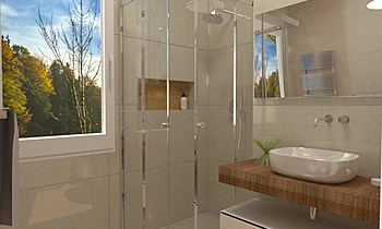 Bagno 2 - Doccia Modern Bathroom BIODOMUS  SRL