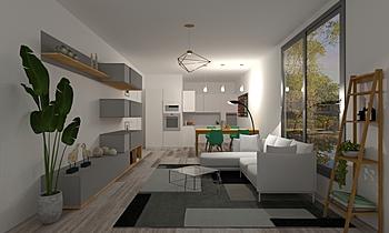Salotto - Cucina Modern Cameră de zi Ceramiche Sanfilippo