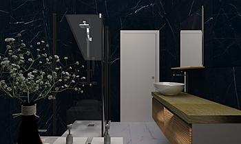 Proposta bagno sottotetto... Moderní Koupelna Aresio   Ceramiche