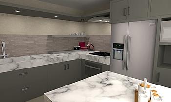 Kitchen02 - Tilelook Nowoczesne Kuchnia Davide  Biagetti
