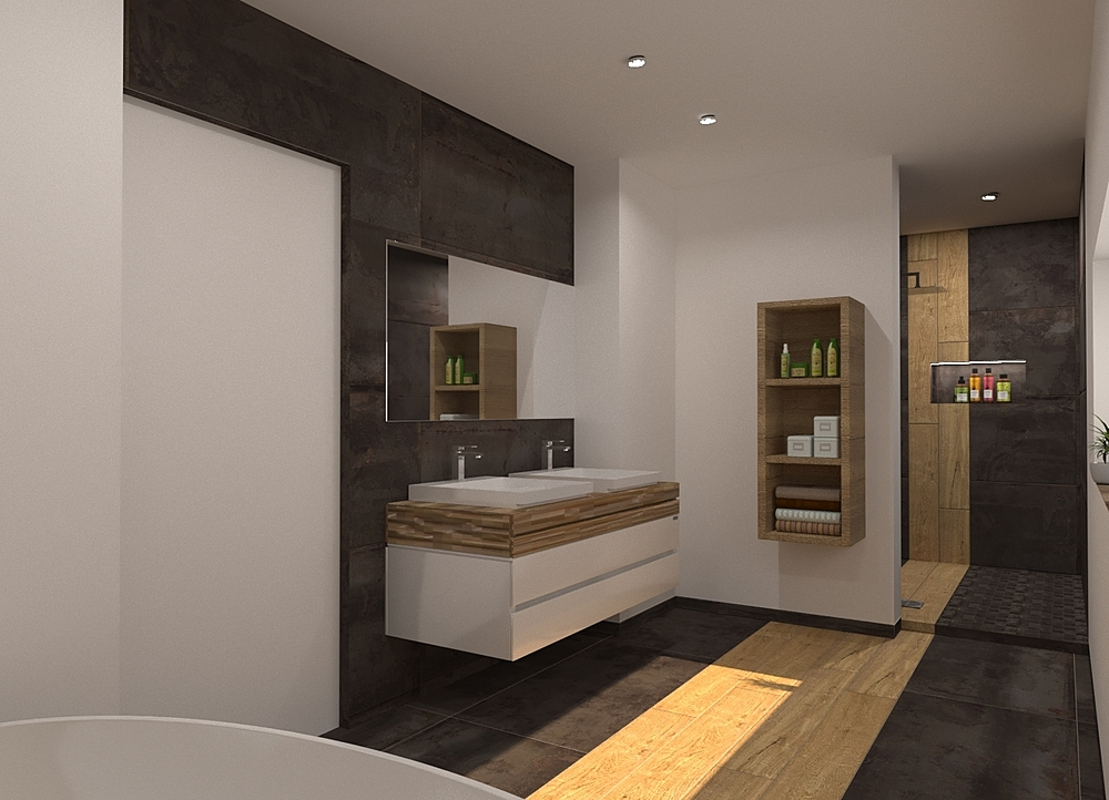 Bati-Flor Salle de Bain Modern Bathroom Céline Burton