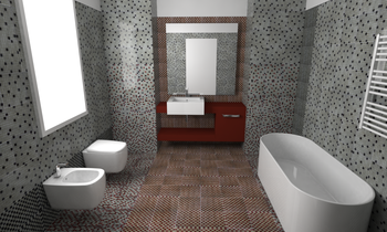 Safran Glass 2 Eclectic Bathroom Giulia Fiorese