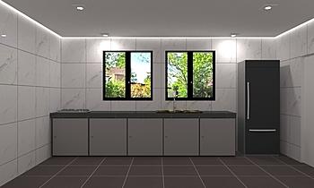 Suresh-Wet Kitchen Nowoczesne Kuchnia Feruni Ceramiche Sdn Bhd frspj