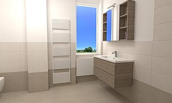 Progetto Baucer Materie T... Modern Bathroom Ceramiche Piran