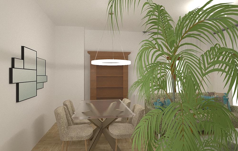 Salón Cruz_ beigs Modern Living room Orballo Decoración