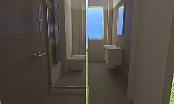 Bagno Principale Cerenzia... Modern Bathroom Adriano Meringolo