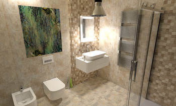 Ardesia Almond con Deco L... Classic Bathroom Cid Vives