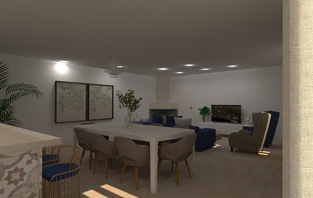 salon ana mª salces valle... Modern Living room gonzalo y mariano  soler