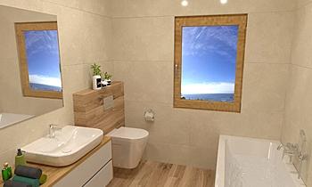 Hartelová horna kupelna Moderní Koupelna Barbora Hnilicka