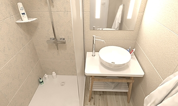 Panel fürdő Modern Bathroom Gergő Fejes