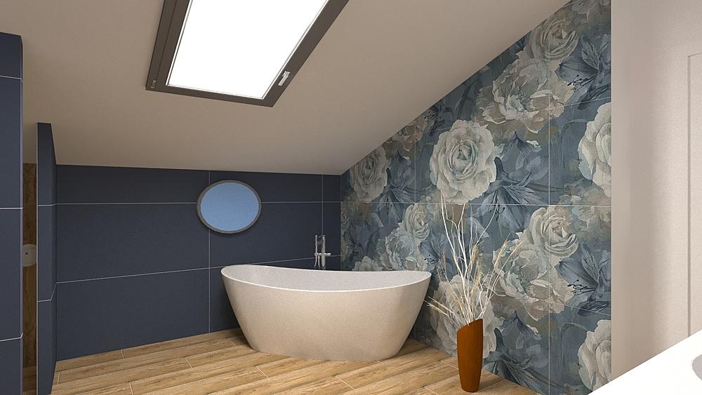 four seasons blue2 Romantic Bathroom Nathalie  Faivre