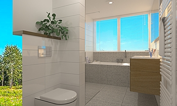 Aldersma badkamer Modern Bathroom Patrick van der Meer