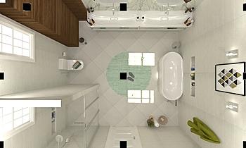 master bath room salem hi... Moderní Koupelna ahmed gharib