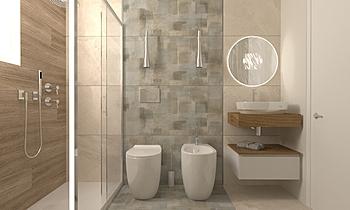 BAGNO ZONA GIORNO Moderní Koupelna Giovanni Latino