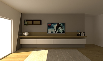 555 Modern Cameră de zi LAKD Lattanzi Kitchen Design