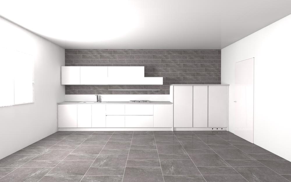 Tilelook rivestimento cucina della stessa serie e colore for Pavimento della cucina del cottage