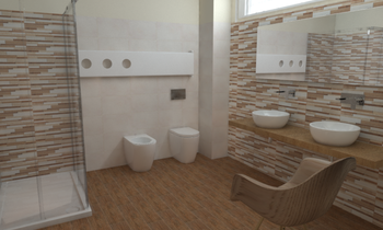 Crimart Srl Bagno Idea Ce... Modern Bathroom SALVATORE MANGIAGLI Crimart s.r.l.