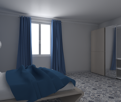 Tilelook: arch. fantoni marta camera da letto blu